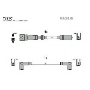 TESLA T821C Кабель зажигания, к-кт TESLA Seat,VW 88-02 1,4;1,7