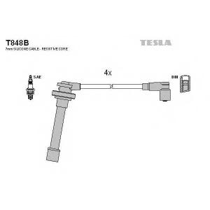 TESLA T848B Кабель зажигания, к-кт TESLA Nissan Almera N15,Primera P10,P11, Sunny 90-01