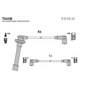 TESLA T849B Кабель зажигания, к-кт TESLA Nissan Primera P10,P11, Sunny 90-02