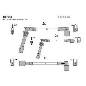 TESLA T870B Кабель зажигания, к-кт TESLA Opel Calibra,Vectra 88-00 1,6;1,8;2,0