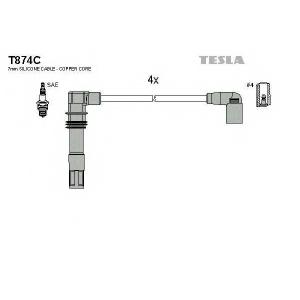TESLA T874C Кабель зажигания, к-кт TESLA VAG 98-1,4;1,6