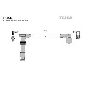 TESLA T986B Кабель зажигания, к-кт TESLA Chevrolet Evanda,Lacetti,Nubira,Tacuma 1,8;2,0 0,5- Opel 95-04