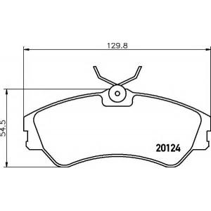 TEXTAR 2012401 Тормозные колодки дисковые