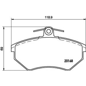 Комплект тормозных колодок, дисковый тормоз 2016801 textar - VW GOLF II (19E, 1G1) Наклонная задняя часть 1.8 GTI 16V