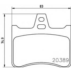 TEXTAR 2038902 Комплект тормозных колодок, дисковый тормоз Ситроен Cx Брейк