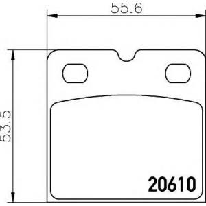 TEXTAR 2061005 Комплект тормозных колодок, дисковый тормоз