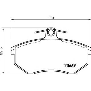 Комплект тормозных колодок, дисковый тормоз 2066921 textar - AUDI 80 (89, 89Q, 8A, B3) седан 1.6