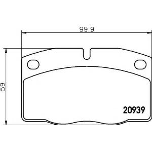 Комплект тормозных колодок, дисковый тормоз 2093903 textar - OPEL CORSA A TR (91_, 92_, 96_, 97_) седан 1.0