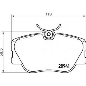 Комплект тормозных колодок, дисковый тормоз 2094102 textar - MERCEDES-BENZ 190 (W201) седан E 2.3-16
