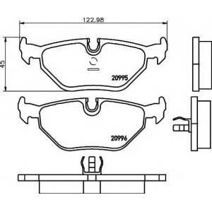 TEXTAR 2099501 Тормозные колодки