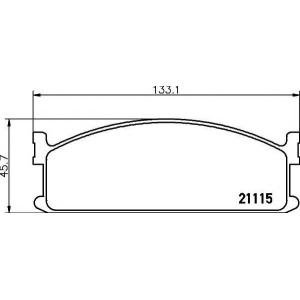 TEXTAR 2111501 Комплект тормозных колодок, дисковый тормоз Исузу Мидиан