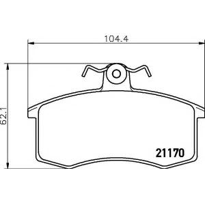 Комплект тормозных колодок, дисковый тормоз 2117002 textar - LADA SAMARA (2108, 2109) Наклонная задняя часть 1300
