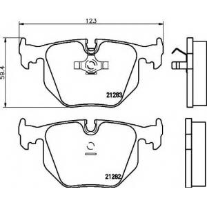 Комплект тормозных колодок, дисковый тормоз 2128201 textar - BMW 5 (E34) седан M 3.6