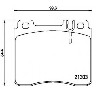 Комплект тормозных колодок, дисковый тормоз 2130304 textar - MERCEDES-BENZ S-CLASS (W140) седан S 350 Turbo-D (140.134)
