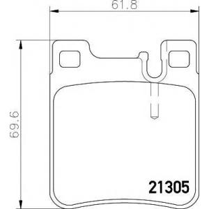 Комплект тормозных колодок, дисковый тормоз 2130503 textar - MERCEDES-BENZ SL (R129) кабрио 280 (129.058)
