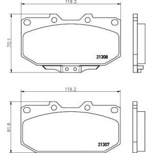 TEXTAR 2130701 Тормозные колодки дисковые Textar