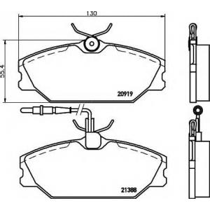 Комплект тормозных колодок, дисковый тормоз 2138802 textar - RENAULT 25 (B29_) Наклонная задняя часть 2.2 (B29E)