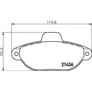 Комплект тормозных колодок, дисковый тормоз 2143602 textar - FIAT PANDA (169) Наклонная задняя часть 1.2
