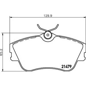2147902 textar Комплект тормозных колодок, дисковый тормоз VW TRANSPORTER автобус 2.4 D Syncro