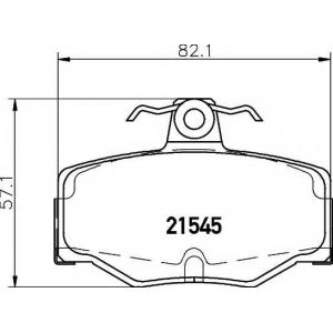 Комплект тормозных колодок, дисковый тормоз 2154501 textar - NISSAN PRIMERA (P10) седан 1.6