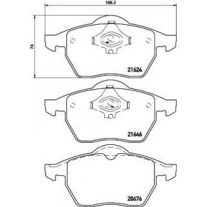 Комплект тормозных колодок, дисковый тормоз 2162402 textar - AUDI A4 (8D2, B5) седан 1.8
