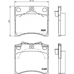 Комплект тормозных колодок, дисковый тормоз 2163501 textar - VW TRANSPORTER IV автобус (70XB, 70XC, 7DB, 7DW) автобус 2.4 D Syncro