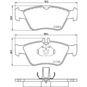 Комплект тормозных колодок, дисковый тормоз 2166404 textar - MERCEDES-BENZ C-CLASS (W202) седан C 280 (202.028)