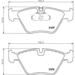 Комплект тормозных колодок, дисковый тормоз 2167703 textar - BMW 5 (E39) седан 520 i