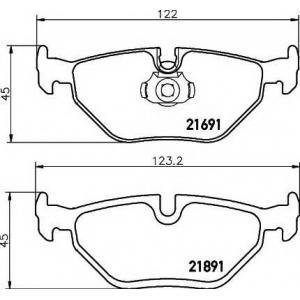Комплект тормозных колодок, дисковый тормоз 2169103 textar - BMW 5 (E39) седан 520 i