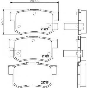 2171901 textar Комплект тормозных колодок, дисковый тормоз HONDA LEGEND седан 3.2 i 24V