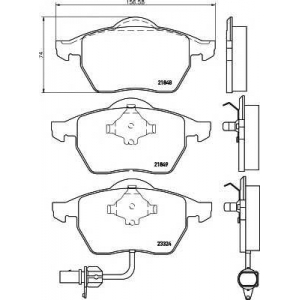 Комплект тормозных колодок, дисковый тормоз 2184903 textar - VW SHARAN (7M8, 7M9, 7M6) вэн 1.9 TDI