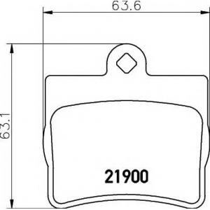 Комплект тормозных колодок, дисковый тормоз 2190003 textar - MERCEDES-BENZ E-CLASS купе (C124) купе E 200 (124.040)