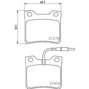 Комплект тормозных колодок, дисковый тормоз 2190403 textar - MERCEDES-BENZ VITO автобус (638) автобус 108 D 2.3 (638.164)