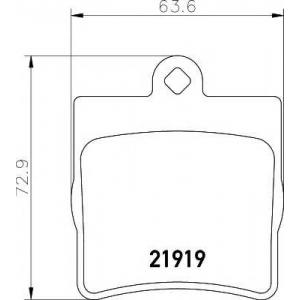 Комплект тормозных колодок, дисковый тормоз 2191901 textar - MERCEDES-BENZ E-CLASS кабрио (A124) кабрио E 200 (124.060)
