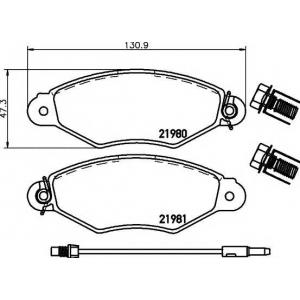 TEXTAR 2198003 Комплект тормозных колодок, дисковый тормоз