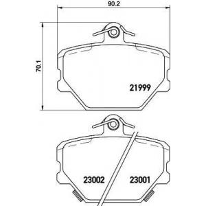 TEXTAR 2199901 Тормозные колодки  Smart 98-  (0001431V002)
