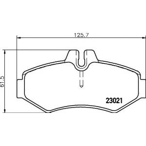 Комплект тормозных колодок, дисковый тормоз 2302101 textar - MERCEDES-BENZ G-CLASS (W463) вездеход закрытый 350 G Turbo D (463.320, 463.321)