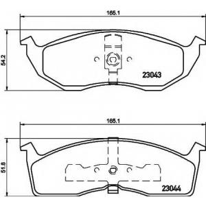 TEXTAR 2304301 Комплект тормозных колодок, дисковый тормоз Крайслер Конкорд