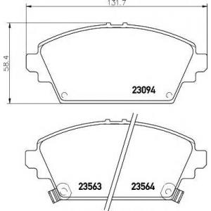 TEXTAR 2309401 Тормозные колодки дисковые
