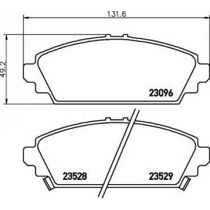 Комплект тормозных колодок, дисковый тормоз 2309601 textar - HONDA ACCORD VII (CG, CK) седан 1.6 i