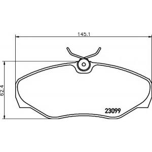 TEXTAR 2309902 Тормозные колодки (дисков торм.)
