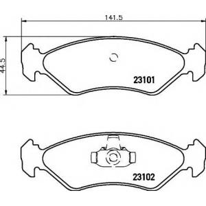 TEXTAR 2310101 Тормозные колодки дисковые