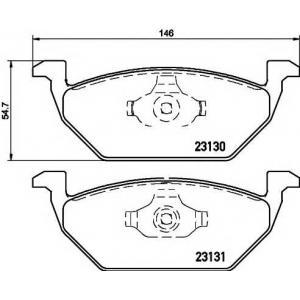 Комплект тормозных колодок, дисковый тормоз 2313001 textar - SEAT IBIZA V (6J5) Наклонная задняя часть 1.2