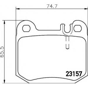 TEXTAR 2315702 Тормозные колодки