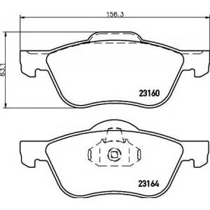 Комплект тормозных колодок, дисковый тормоз 2316001 textar - NISSAN PRIMERA (P11) седан 2.0 16V