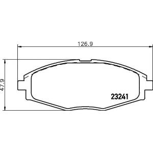 2324102 textar Комплект тормозных колодок, дисковый тормоз CHEVROLET MATIZ Наклонная задняя часть 0.8 LPG