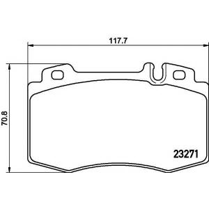 �������� ��������� �������, �������� ������ 2327102 textar - MERCEDES-BENZ SL (R129) ������ 280 (129.058)