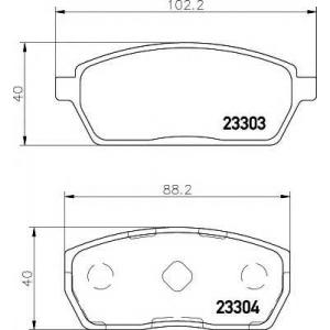 TEXTAR 2330301 Комплект тормозных колодок, дисковый тормоз