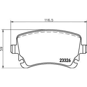 Комплект тормозных колодок, дисковый тормоз 2332601 textar - VW TRANSPORTER V автобус (7HB, 7HJ, 7EB, 7EJ, 7EF) автобус 2.0 TDI
