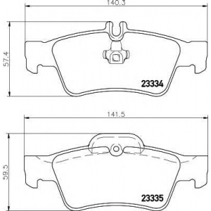 Комплект тормозных колодок, дисковый тормоз 2333403 textar - MERCEDES-BENZ CLS (C218) купе 350 (218.359)